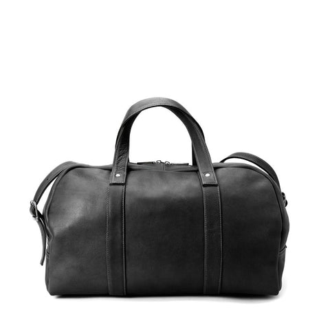 Winn Leather Duffel Bag - Black