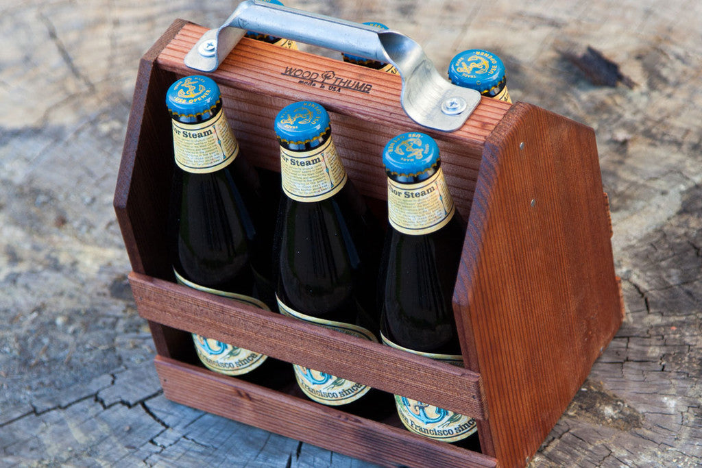 Wood Thumb Wooden Six Pack Bottle Holder Maxton Men