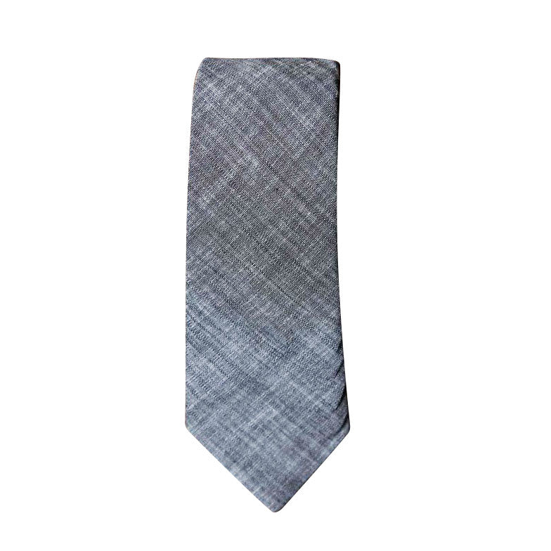 Blade + Blue - Alexander Grey Chambray Tie