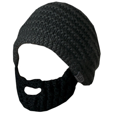 Beard Hat - Dark Grey & Black Beard