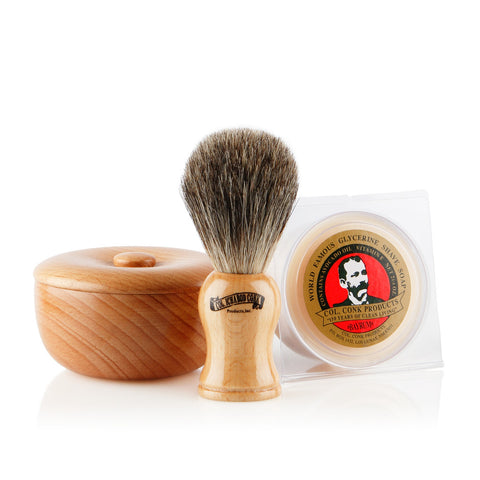 Colonel Conk Beech Wood Shaving Gift Set
