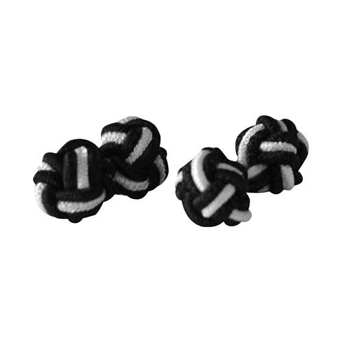 Knot Cufflinks - Black & White