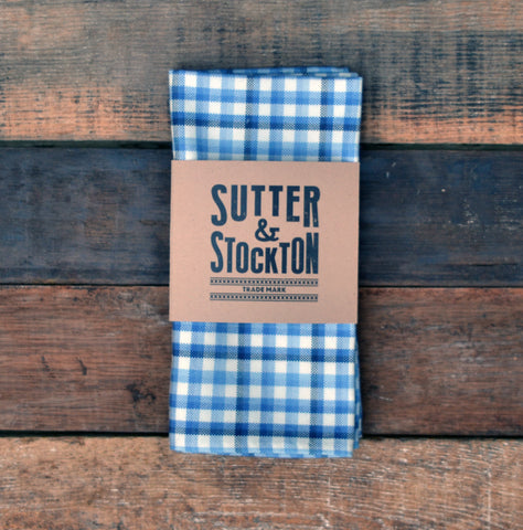 Lightweight Flannel Pocket Square - Blue Sea