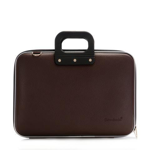 Bombata Classic Laptop Briefcase - Brown