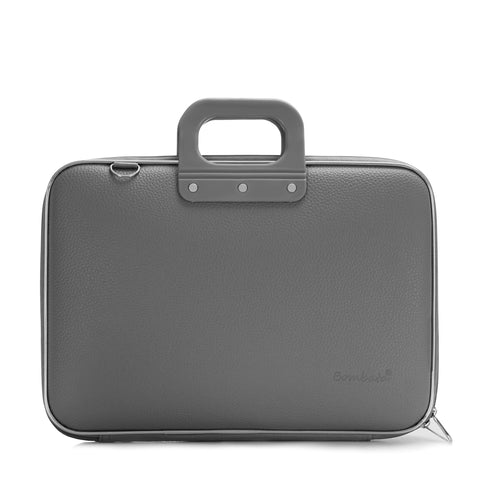 Bombata Classic Laptop Briefcase - Charcoal