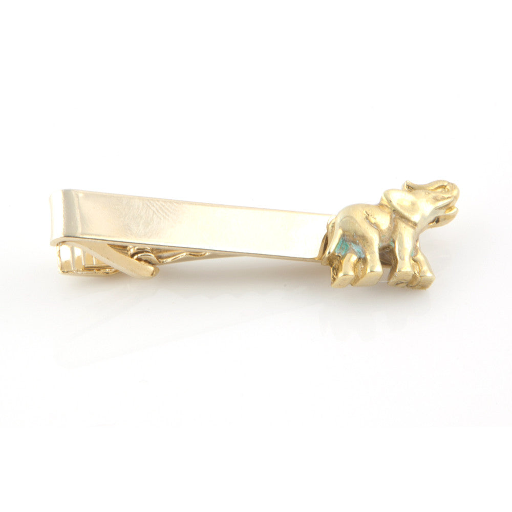 Vintage Elephant Brass Tie Bar