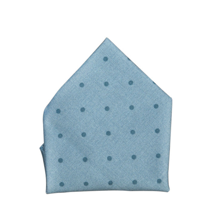 Blade + Blue Christopher Polka Dot Pocket Square - Blue