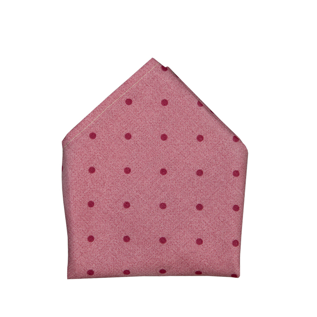 Blade + Blue Christopher Polka Dot Pocket Square - Red