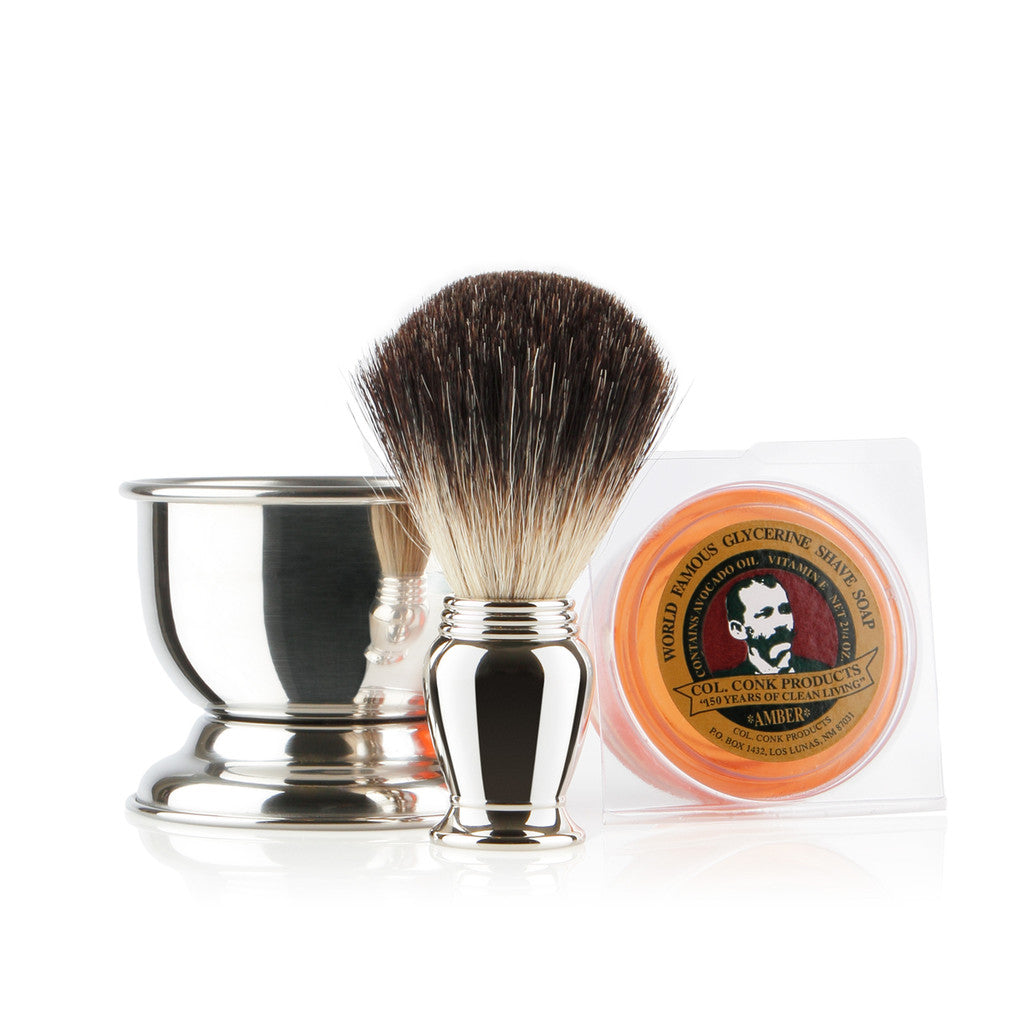 Colonel Conk Chrome Shaving Gift Set