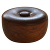 Dark Wooden Shaving Bowl