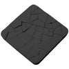 Concrete Water-Absorbent Coaster - Dry Land, Black