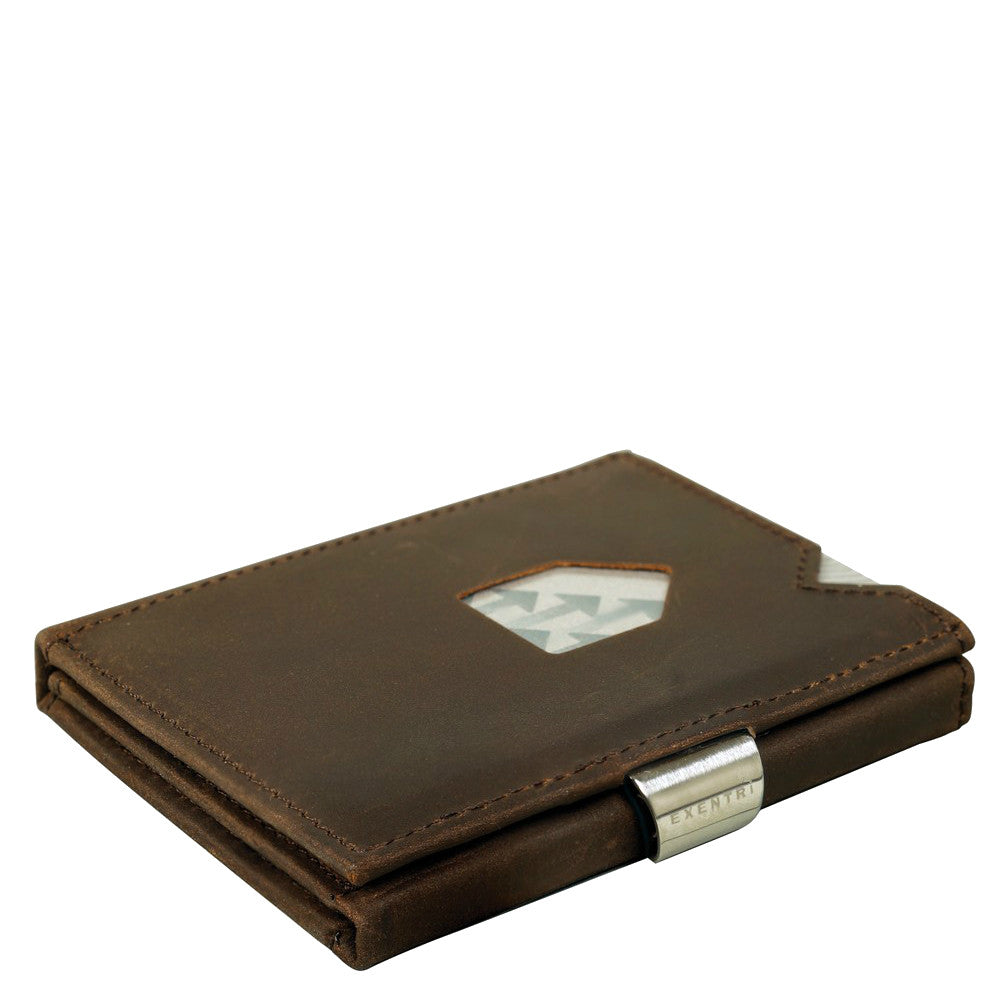 Exentri Trifold Wallet - Nubuck Brown