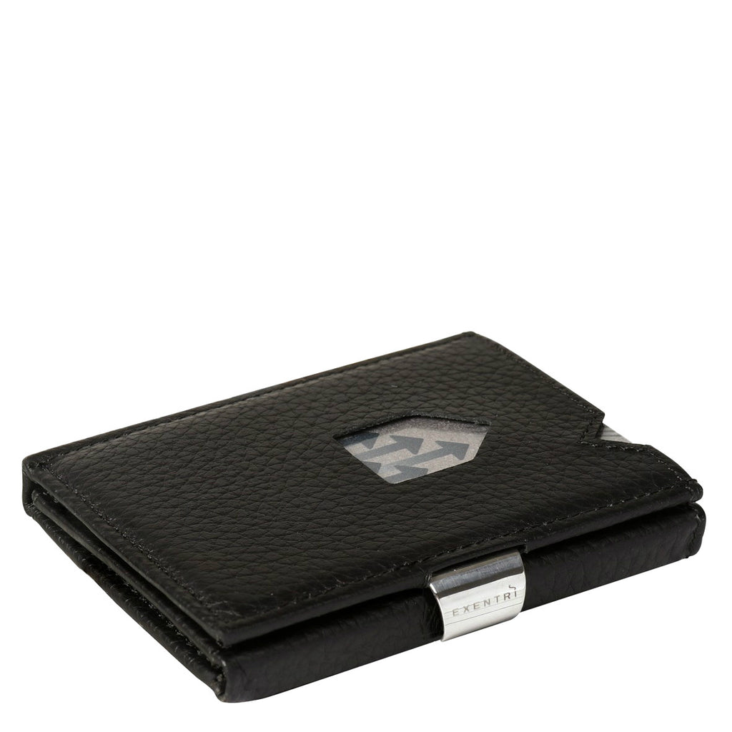 Exentri Trifold Wallet - Black Structure
