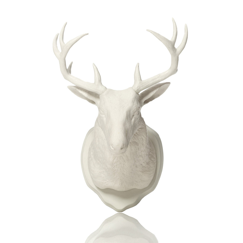 Fctry Urban Taxidermy Magnetic Wall Hook Deer White