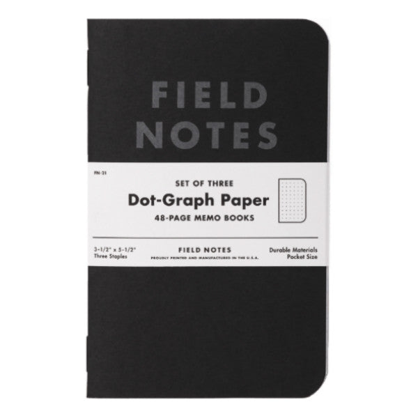 Field Notes Pitch Black - 3 pack