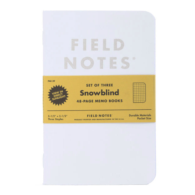 Field Notes Snowblind Notebooks - 3 pack