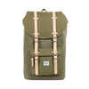 Herschel Little America Canvas Backpack - Washed Army Green 2