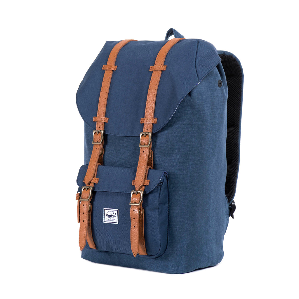 Herschel Little America Canvas Backpack - Washed Navy