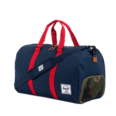 5e41bea80db Herschel Supply Novel Duffel Bag - Woodland Camo   Navy   Red