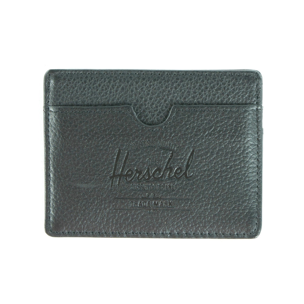 Herschel Supply Charlie Wallet - Black Leather