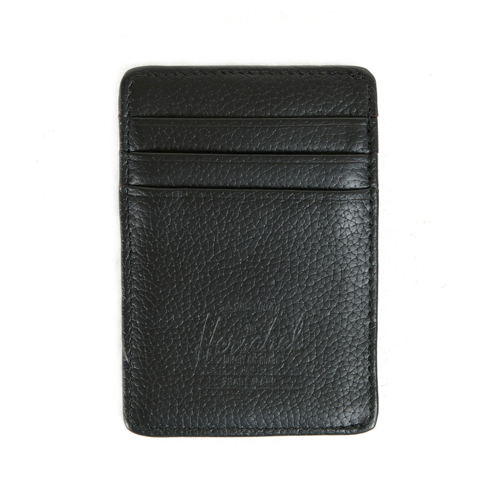 Herschel Supply Raven Wallet - Black Leather