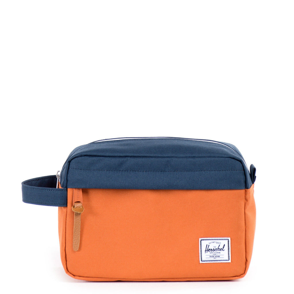 Herschel Supply Chapter Travel Kit - Carrot & Navy