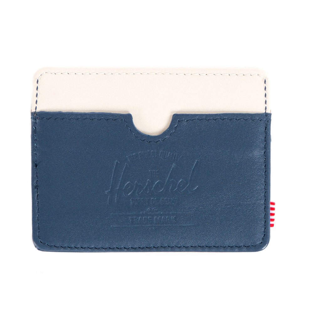 Herschel Supply Charlie Wallet - Navy & Bone Leather
