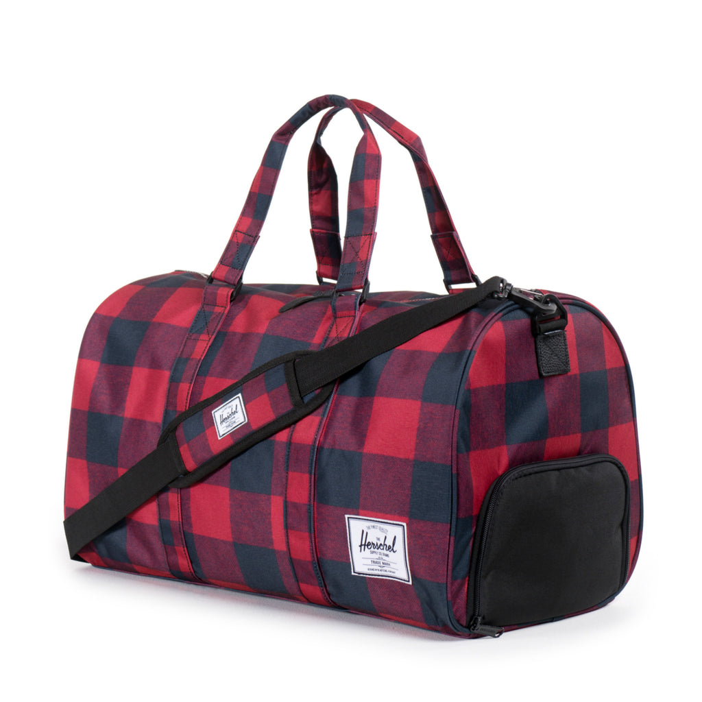 Herschel Supply Novel Duffel Bag - Buffalo Plaid Side