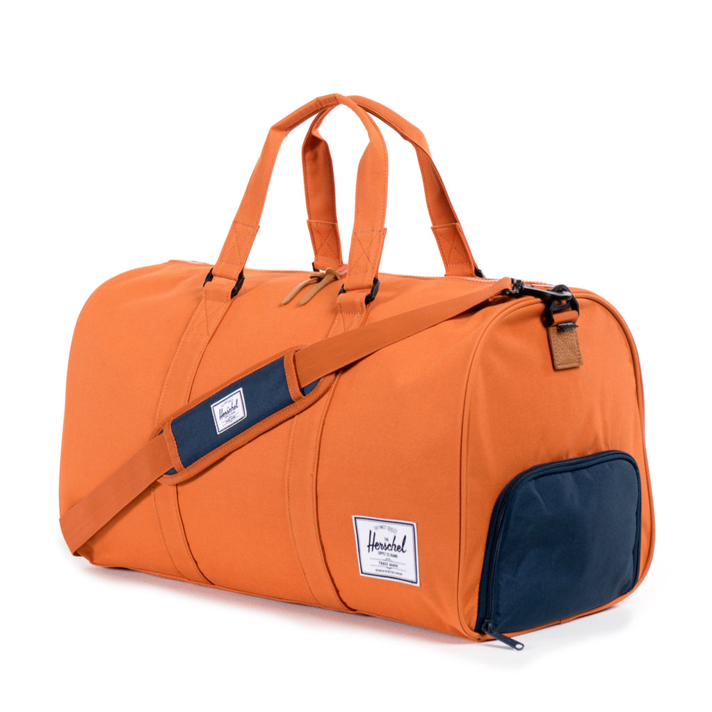 Herschel Supply Novel Duffel Bag - Carrot & Navy Side