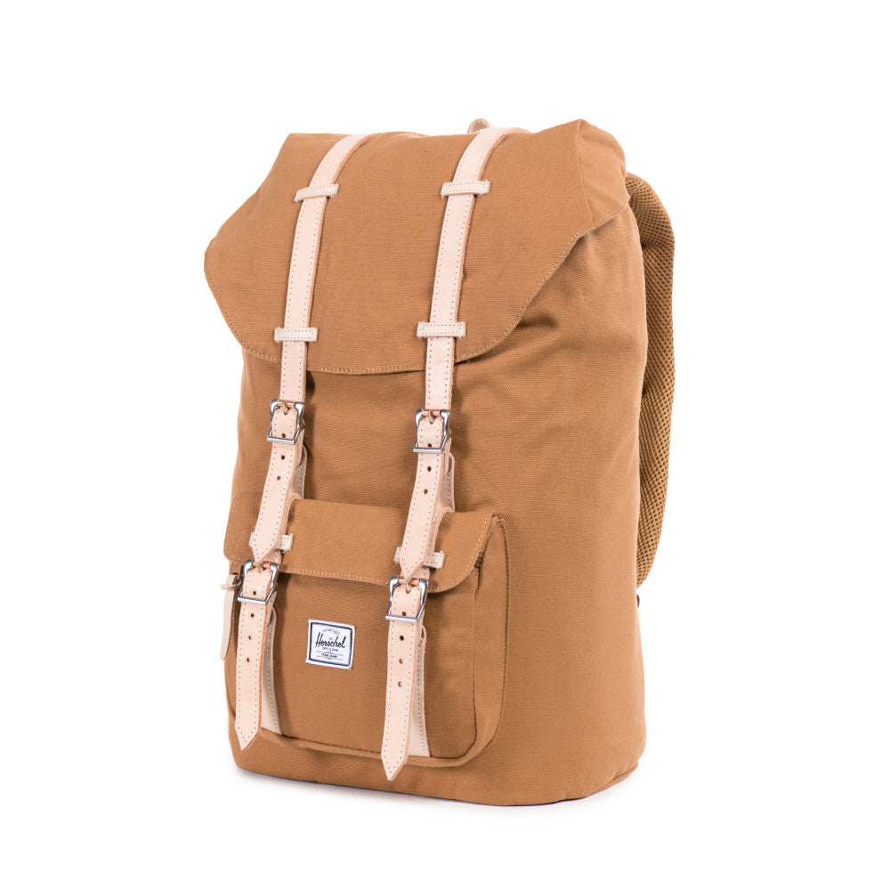 Herschel Supply Little America Canvas Backpack Caramel Side