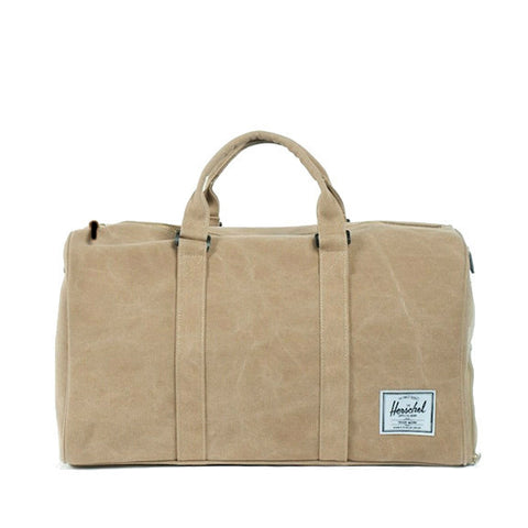 Herschel Supply Novel Canvas Duffel Bag - Khaki & Black
