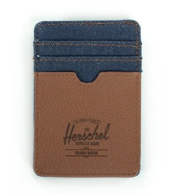 The Raven Wallet - Denim & Tan Limited Edition