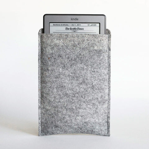 Old Calgary Organic Wool Felt Amazon Kindle Fire Oxford Sleeve Case - Concrete