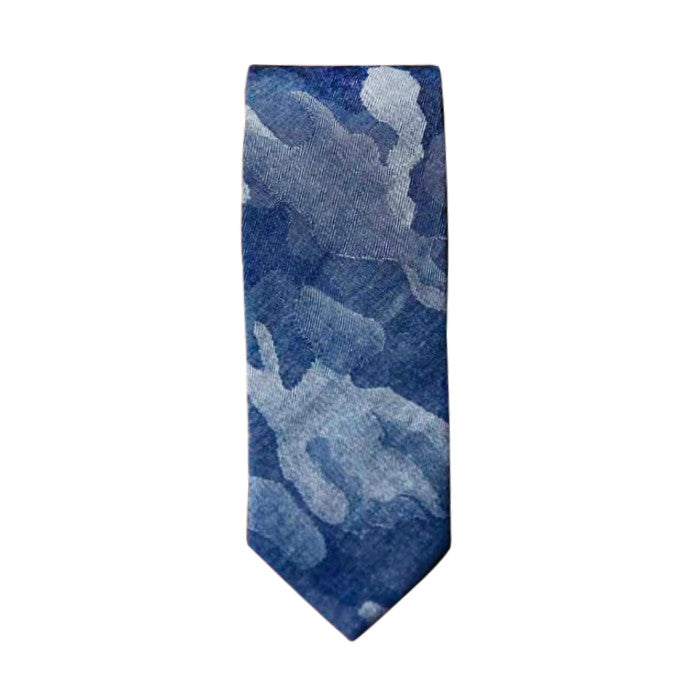 Blade + Blue - James Denim Camo Tie