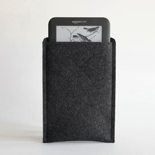 Old Calgary Organic Wool Felt Amazon Kindle Oxford Sleeve Case - Anthracite