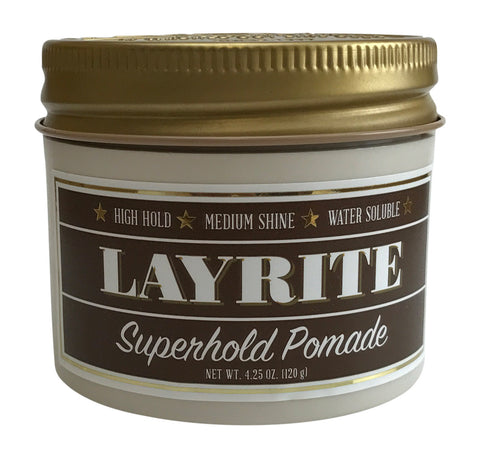 Layrite Deluxe Pomade Super Hold - 4 oz