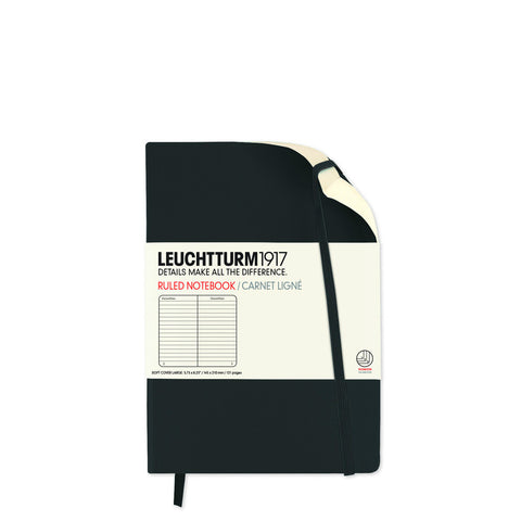 Leuchtturm1917 Pocket Notebook - Black Ruled
