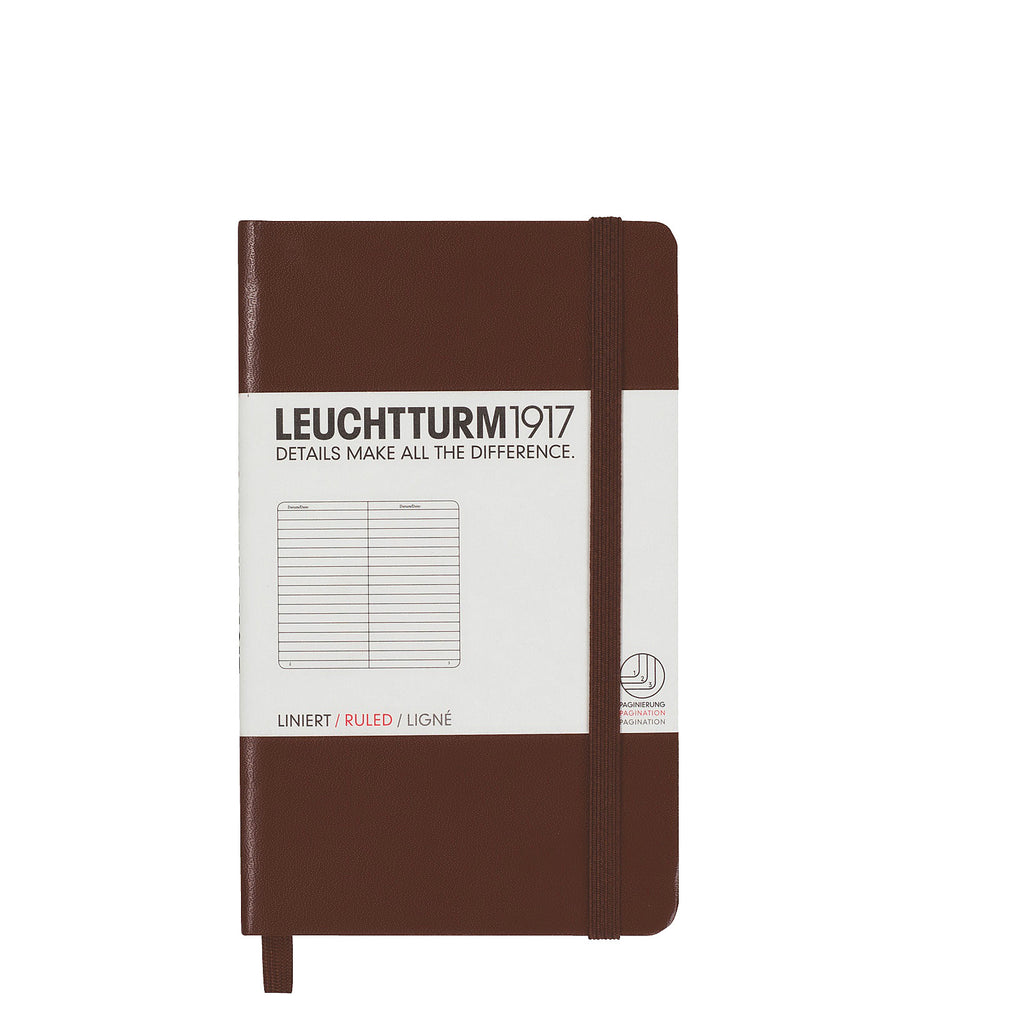 Leuchtturm 1917 Pocket Notebook Brown Ruled