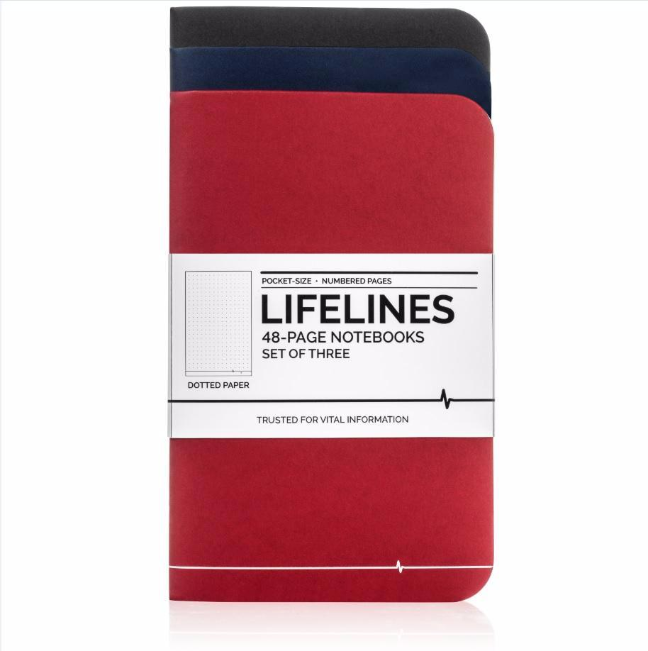 Lifelines Dotted Grid Notebooks | Variety, Set of 3