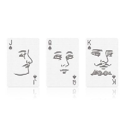 See-Through Poker Face Cards