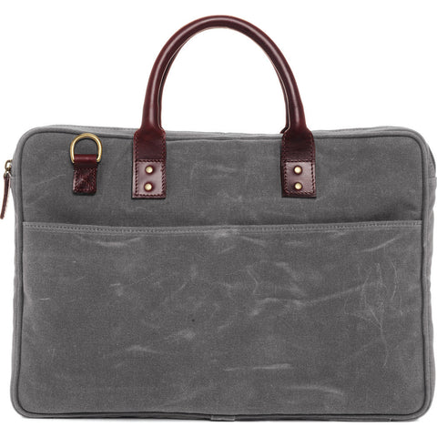 Ona Canvas Kingston Laptop Bag - Smoke