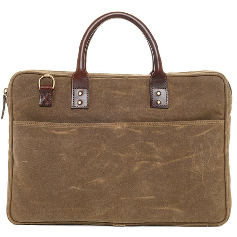 Ona Kingston Briefcase Canvas Bag - Field Tan