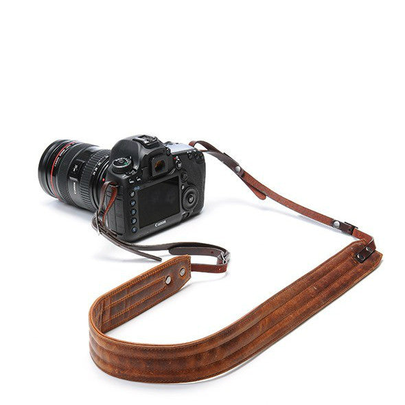 Ona Presidio Leather Camera Strap - Antique Cognac