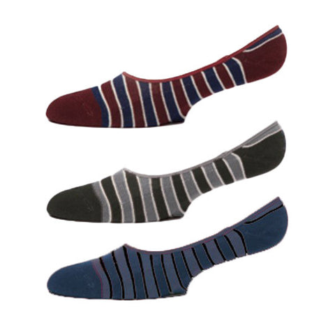 No See Ums Socks - 3-pack - Stripes