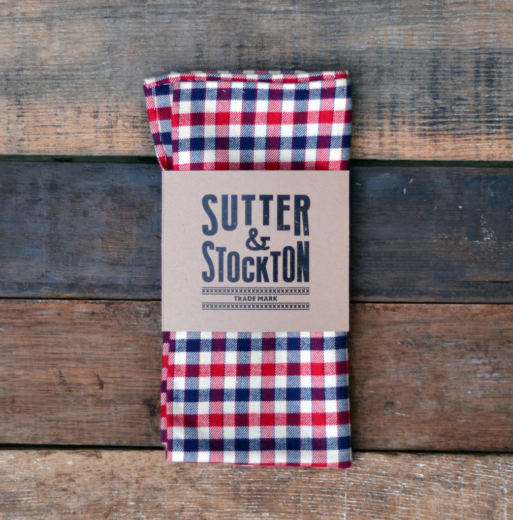 Lightweight Flannel Pocket Square - America