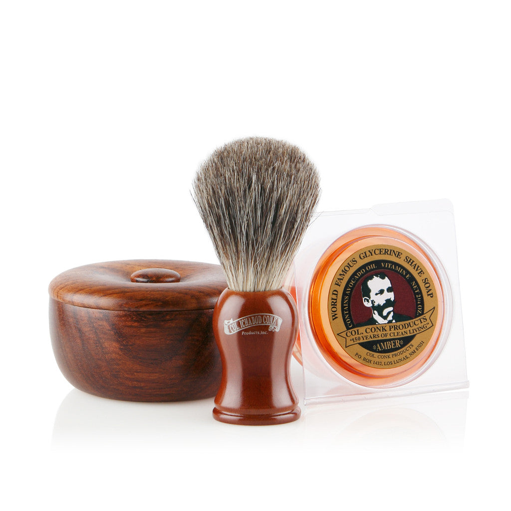 Colonel Conk Rosewood Shaving Gift Set