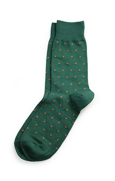 Richer Poorer - Polka Dots Socks - Green