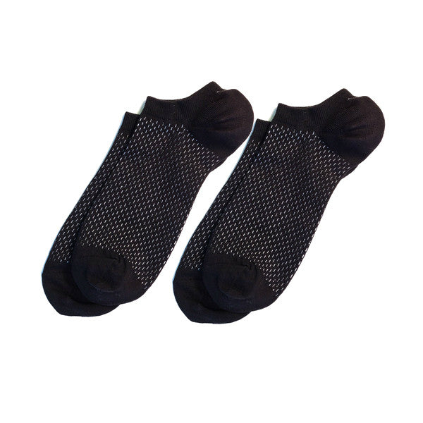 Richer Poorer - Rookie Black Low Show Socks - 2 pairs