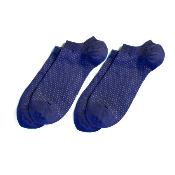 Richer Poorer - Rookie Solid Blue Low Show Socks - 2 pairs