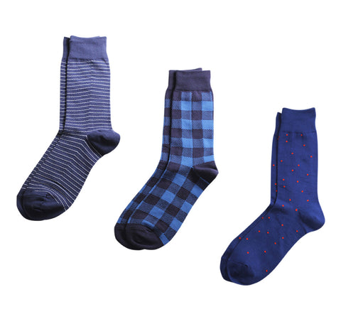 Richer Poorer Socks - Blue - 3-Pack
